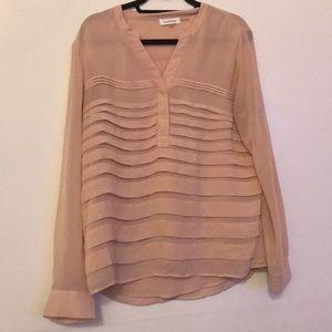 Calvin Klein Long Sleeve blouse light pink